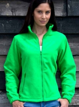 Fleece Jacke Ladies (Grün, XL)
